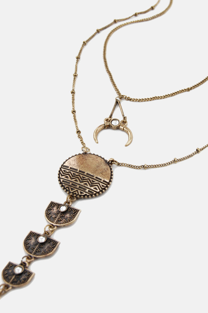 One More Chance Boutique - The Queen Of All Returns Necklace in Gold