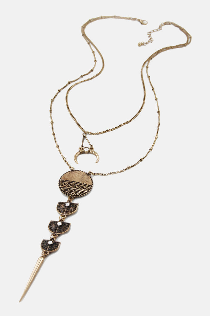One More Chance Vintage - The Queen Of All Returns Necklace in Gold