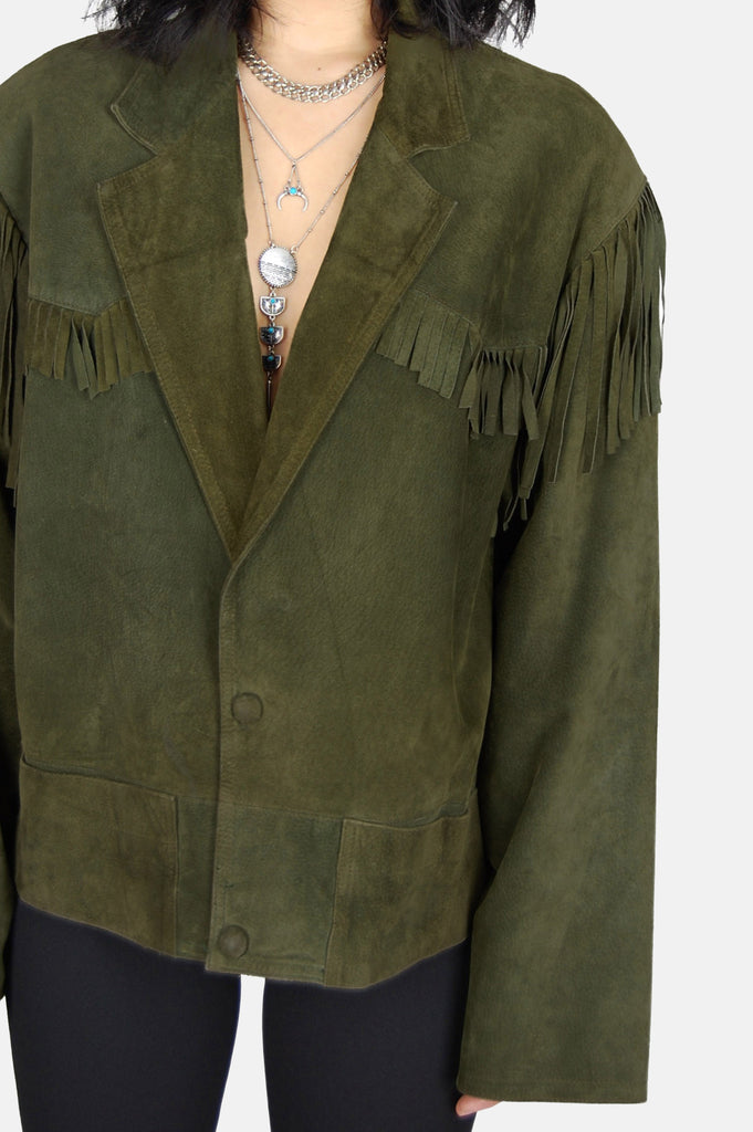 Free Ride Fringe Suede Leather Jacket - One More Chance - 4