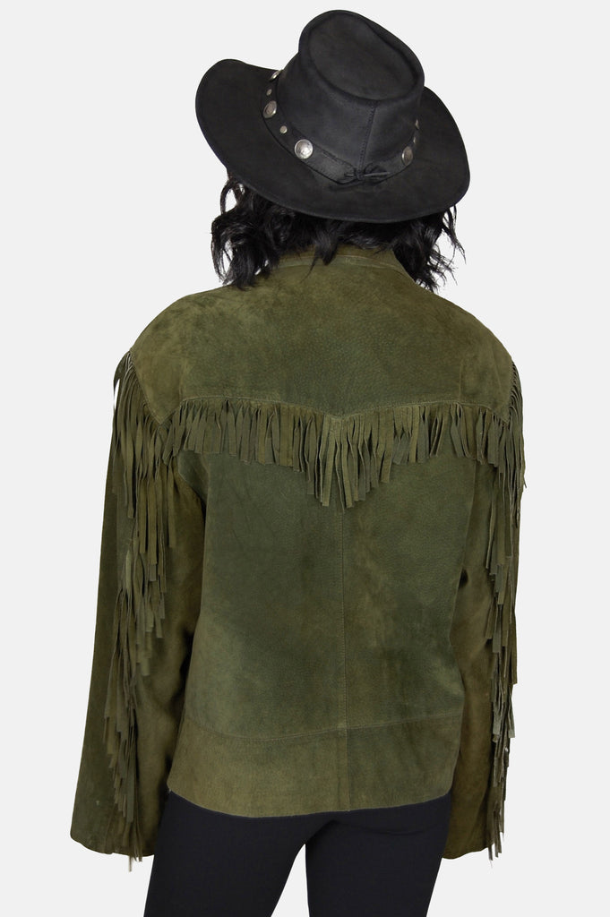 Free Ride Fringe Suede Leather Jacket - One More Chance - 5