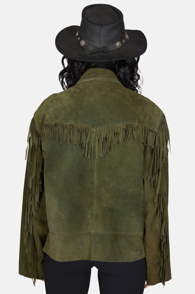 Free Ride Fringe Suede Leather Jacket - One More Chance - 1