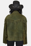 One More Chance Vintage - Vintage Free Ride Fringe Suede Leather Jacket