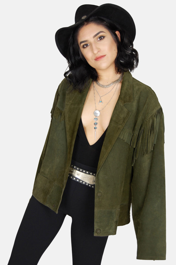Free Ride Fringe Suede Leather Jacket - One More Chance - 2