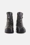 One More Chance Vintage - Vintage Zip It Harley Davidson Leather Ankle Boots