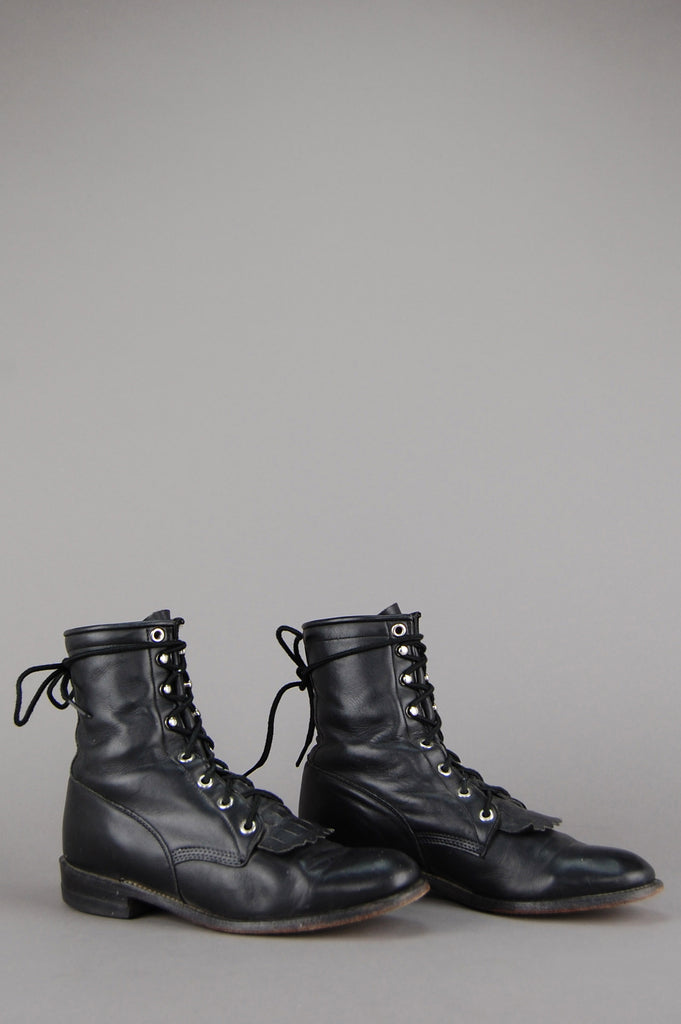 Justin Lace Up Leather Ankle Boots