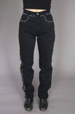 Lawman Western High Waisted Studded Denim Jeans