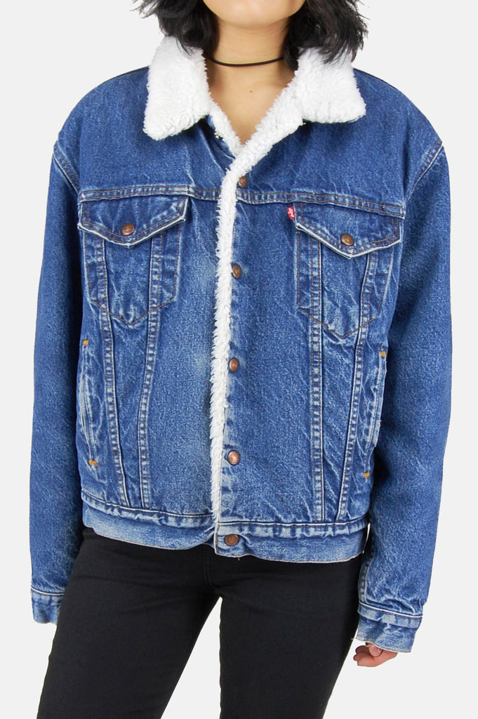 One More Chance Vintage - Vintage Shakin' The Blues Levi Denim Sherpa Jacket