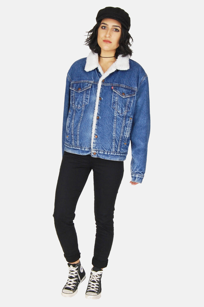 One More Chance Boutique - Vintage Shakin' The Blues Levi Denim Sherpa Jacket