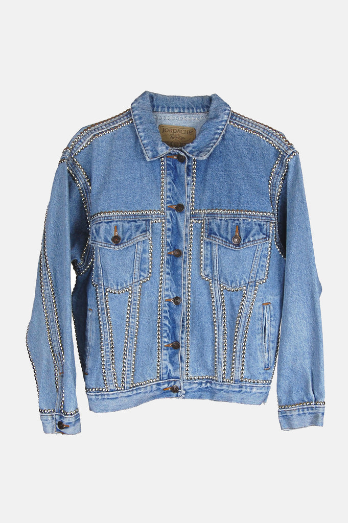 One More Chance Vintage - Vintage Wild One Studded Denim Jacket