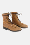 Dan Post Leather Lace Up Justin Boots - One More Chance - 2
