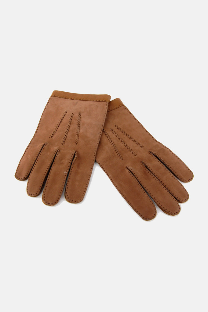 One More Chance Boutique - Vintage French Girl Suede Leather Gloves
