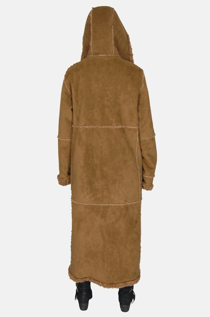 Wintertime Love Hooded Sherpa Suede Coat - One More Chance - 6