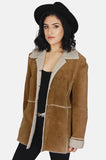 Country Girl Sherpa Suede Leather Jacket - One More Chance - 1