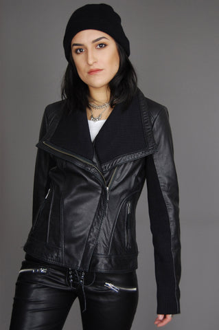 One More Chance Vintage - Michael Kors Biker Moto Leather Jacket