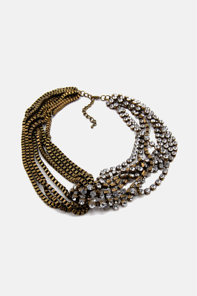 One More Chance Vintage - Vintage Suzanne Multi Chain Layered Necklace