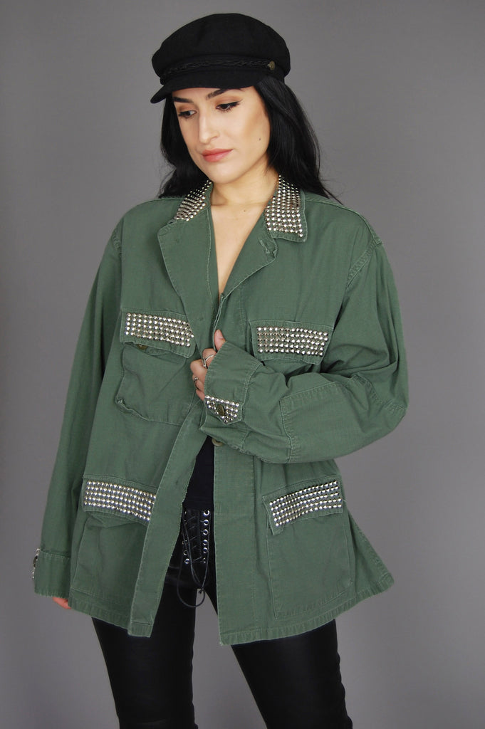 Propper Army Green Combat Studded Jacket
