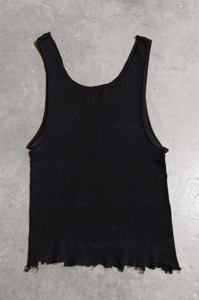 Punk Rock Lies Distressed Cut Off Tank Top 050 in Black - Large - One More Chance Vintage