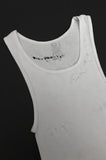 Punk Rock Lies Cutoff Distressed Tank - White