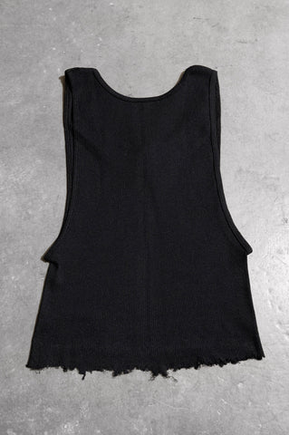 Punk Rock Lies Distressed Cut Off Studded Tank Top 074 in Black - Large - One More Chance Vintage
