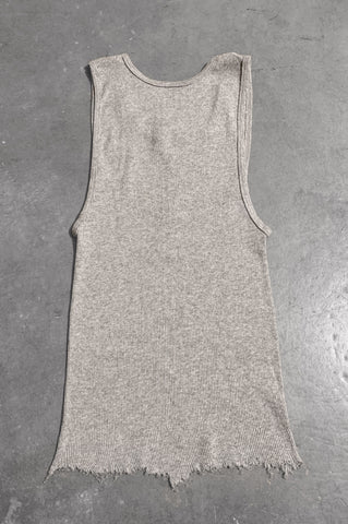 Punk Rock Lies Distressed Cut Off Studded Tank Top 075 in Gray - Small - One More Chance Vintage