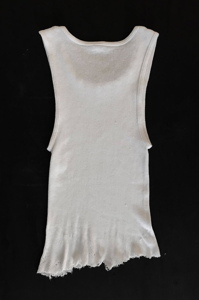 Punk Rock Lies Cutoff Studded White Tank Top - One More Chance Vintage