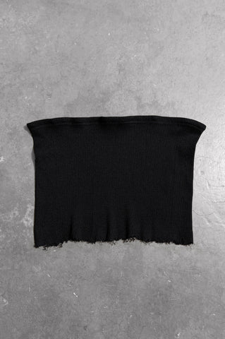 Punk Rock Lies Ribbed Cut Off Crop Tube Top Tank 081 in Black - Medium - One More Chance Vintage