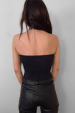 Punk Rock Lies Ribbed Cut Off Crop Tube Top Tank 083 in Black - Large - One More Chance Vintage