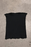 Punk Rock Lies Ribbed Cut Off Tube Top Tank in Black - Available in S/M - One More Chance Vintage