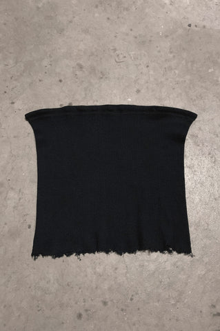 Punk Rock Lies Ribbed Cut Off Crop Tube Top Tank 247 in Black - Small - One More Chance Vintage
