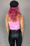 Punk Rock Lies LOLA Studded Cut Off Tube Top 139 in Pink Tie Dye in Small - One More Chance Vintage