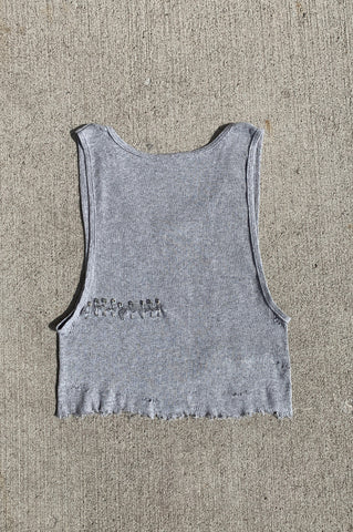 Punk Rock Lies Pin It Safety Pin Distressed Cut Off Crop Tank Top 184 - One More Chance Vintage