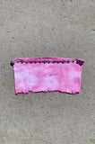 Punk Rock Lies LOLA Studded Distressed Cutoff Tube Top 115 in Pink Tie Dye - Large - One More Chance Vintage