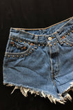 One More Chance Vintage - Vintage Levis Cut Off Studded Denim Shorts