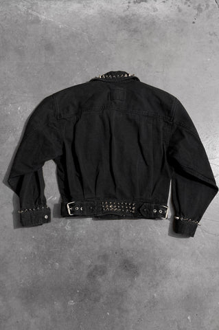Punk Rock Lies Studded Denim Asymmetrical Biker Jacket - One More Chance Vintage