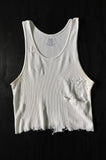 Punk Rock Lies Vintage White Cutoff Distressed Tank 015 - One More Chance Vintage