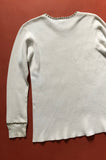Punk Rock Lies Vintage White Studded Long Sleeve Thermal Shirt - One More Chance Vintage