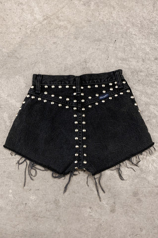 Punk Rock Lies Vintage Wrangler Distressed Studded Denim Cut Off Shorts - One More Chance Vintage