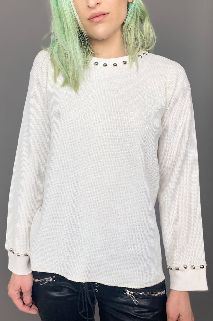 PRL White Lightnin' FOL Studded Thermal Top - Large - One More Chance Vintage