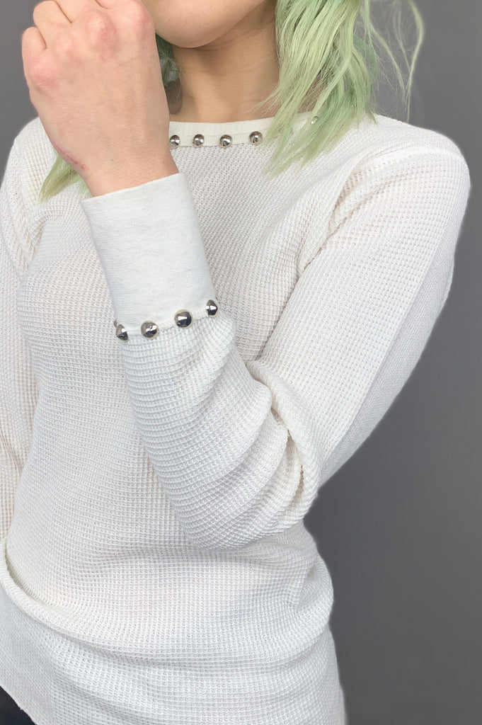 PRL White Lightnin' Studded Thermal Top - Large - One More Chance Vintage