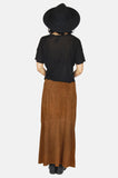 One More Chance Boutique - Vintage Ralph Lauren Country Girl Leather Maxi Skirt