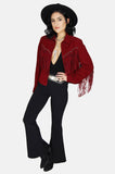 On The Fringe Concho Suede Leather Jacket - One More Chance - 3