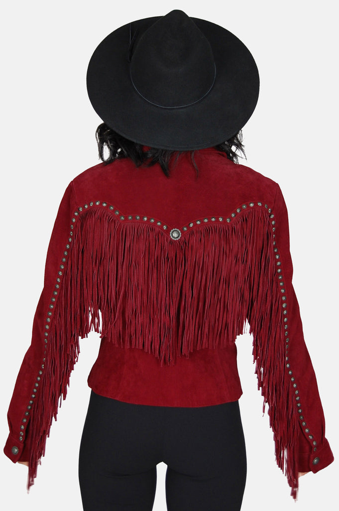 On The Fringe Concho Suede Leather Jacket - One More Chance - 5