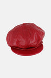 One More Chance Vintage - Vintage Wilson's Paneled Leather Newsboy Hat