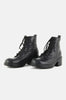 Night Walker Lace Up Leather Ankle Boots
