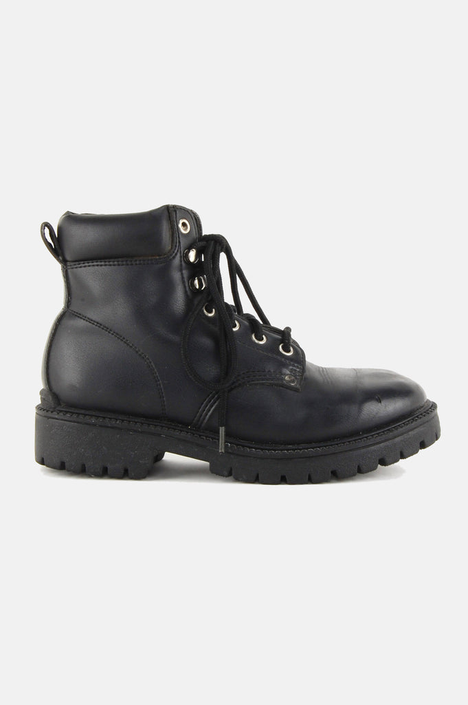 Bad Attitude Rugged Leather Combat Boots