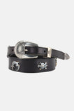 Wild Animal Studded Leather Belt
