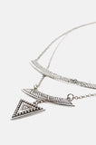 One More Chance Vintage - Delia's Triangle Layer Necklace - Silver