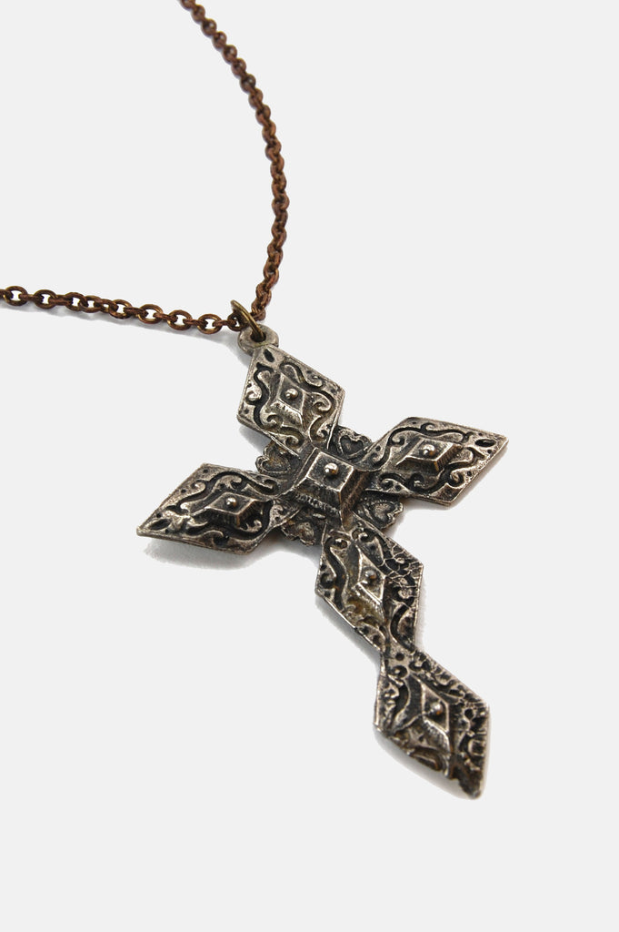 One More Chance Vintage - Vintage Large Statement Cross Necklace