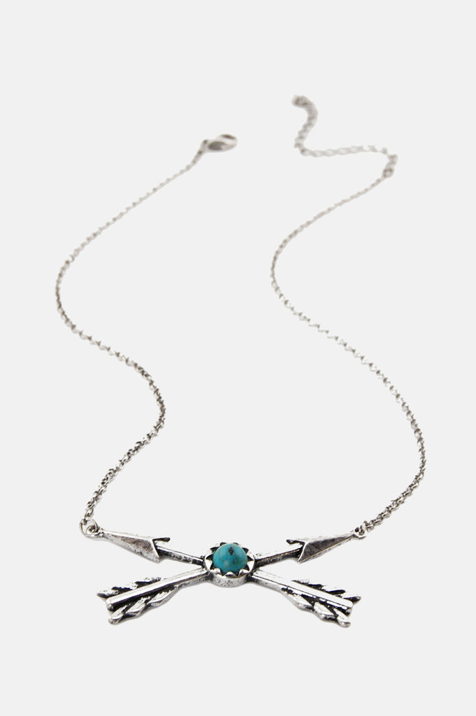 One More Chance Boutique - Double Arrow Friendship Necklace