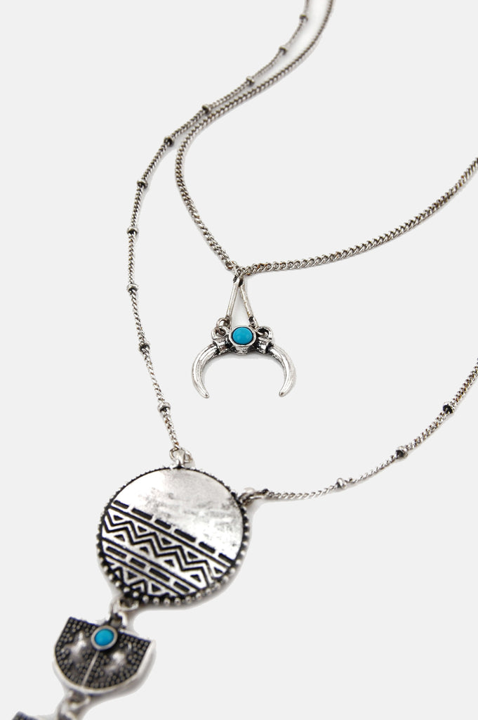 One More Chance Boutique - The Queen Of All Returns Necklace in Silver